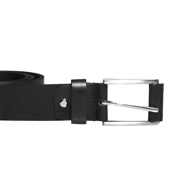 Classical leather belt, black , 954-6833 - 26
