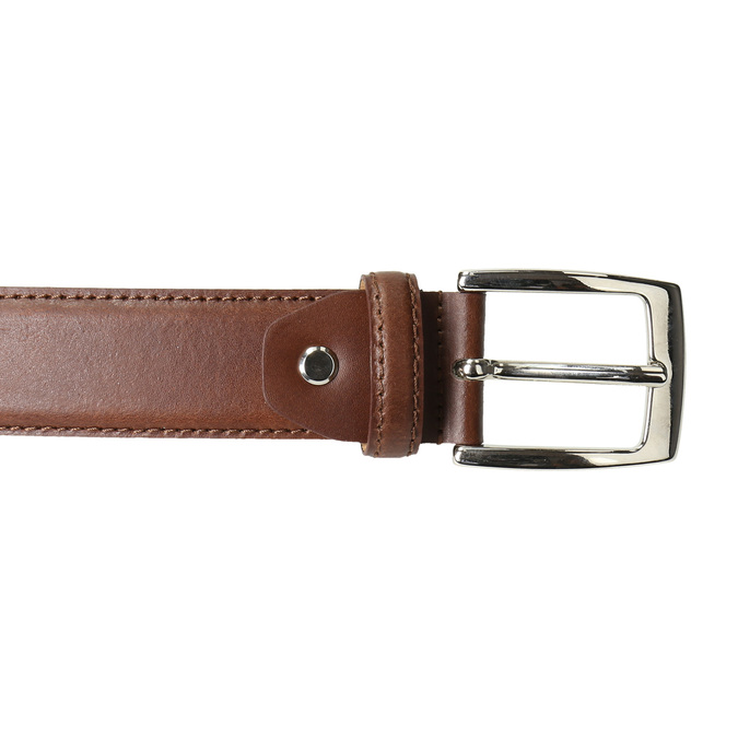 Men's brown leather belt bata, brown , 954-3170 - 26