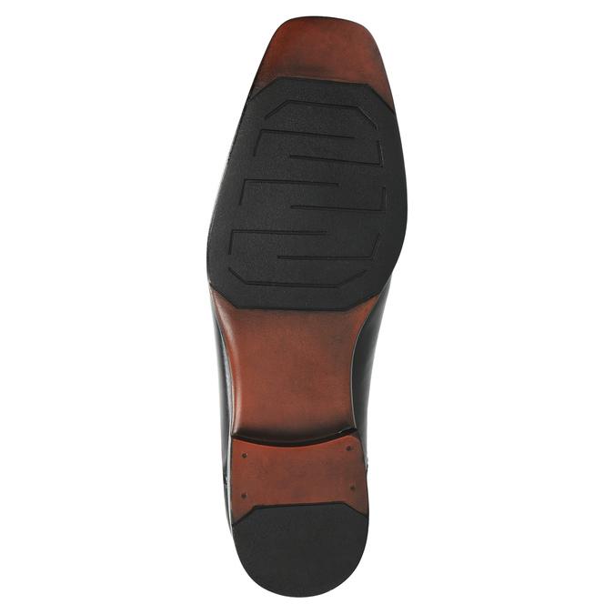 Black leather shoes bata, black , 824-6724 - 26