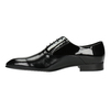 Leather shoes in an Oxford style conhpol, black , 826-6729 - 26
