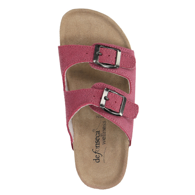 Children's pink slippers de-fonseca, pink , 373-5600 - 19