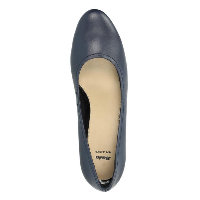 Ladies´ leather pumps bata, blue , 624-9601 - 19