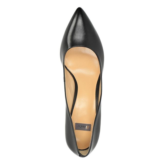 Ladies' leather pumps bata, black , 624-6630 - 19