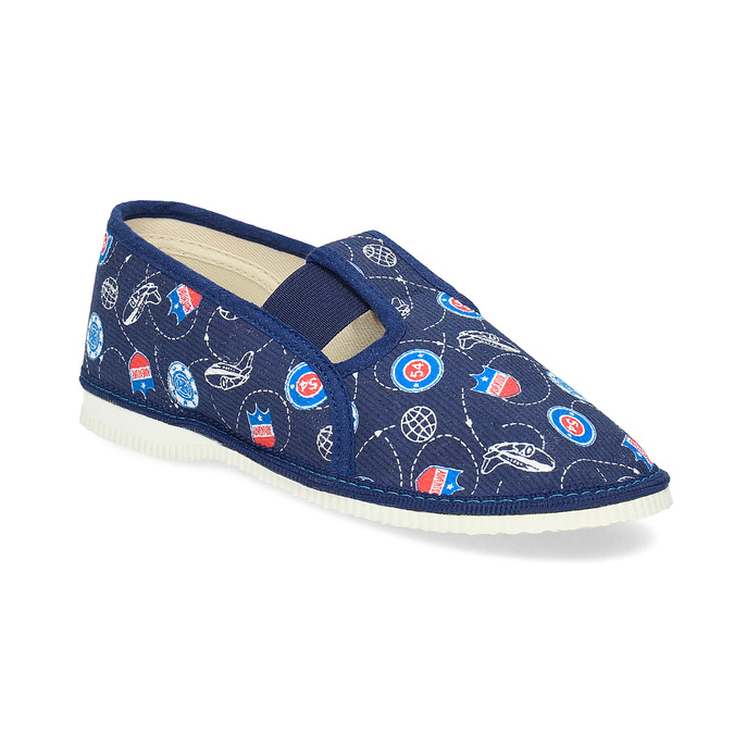 Children's slippers, blue , 379-9012 - 13