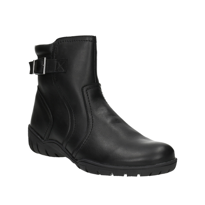 Ladies' leather winter boots bata, black , 594-6347 - 13