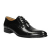 Leather shoes in a Derby style bata, black , 824-6652 - 13