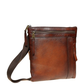 Men´s leather Crossbody bag, brown , 964-4138 - 13