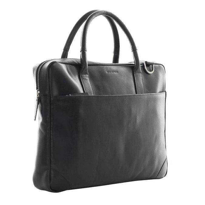 Leather bag with strap royal-republiq, black , 964-6199 - 13