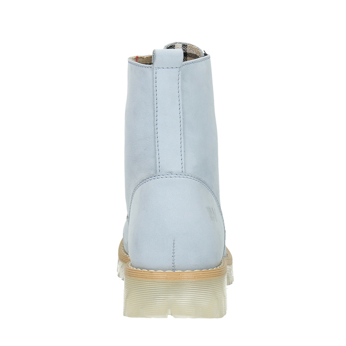 Leather ankle boots with a transparent sole weinbrenner, blue , 596-9639 - 17