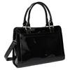 Black handbag with gold detailng bata, black , 961-6610 - 13