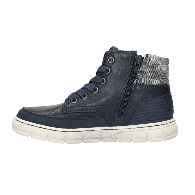 Boys´ ankle-cut sneakers mini-b, blue , 391-9600 - 26