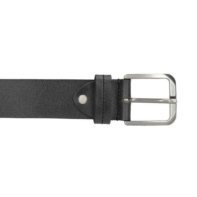 Black leather belt, black , 954-6106 - 26