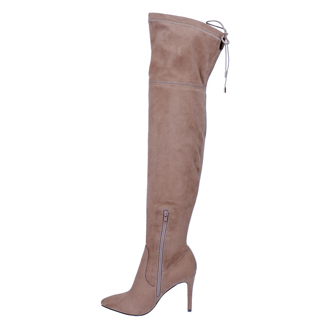 Ladies' over-knee high boots bata, brown , 799-3600 - 19