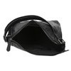 Hobo-style black leather handbag, black , 964-6254 - 15