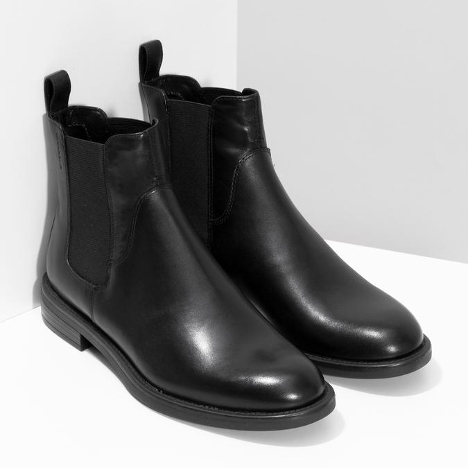 Black leather Chelsea Boots vagabond, black , 514-6007 - 26