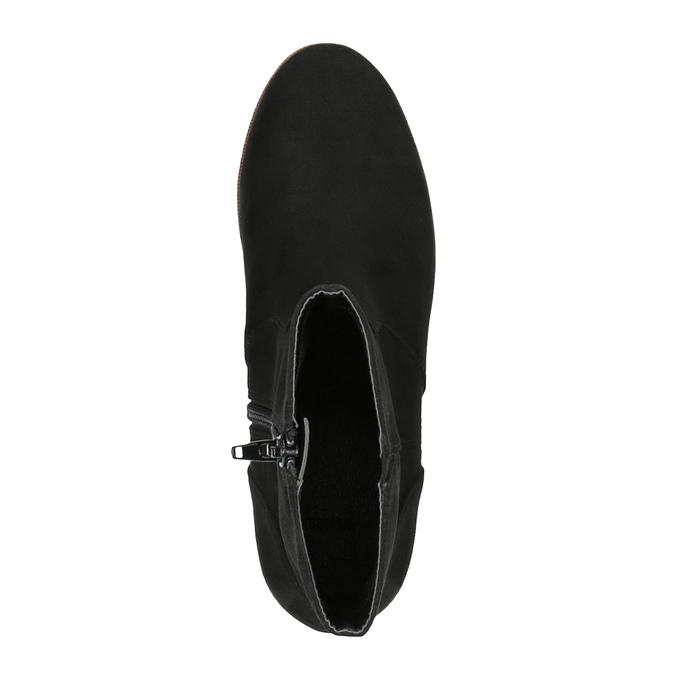 Flatform ankle boots bata, black , 699-6601 - 19