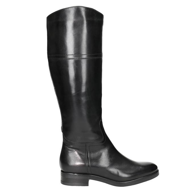 Ladies´ leather Cossacks bata, black , 594-6606 - 26