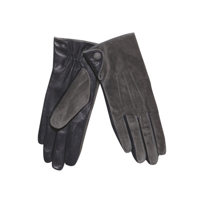 Ladies' leather gloves bata, gray , 903-2101 - 13
