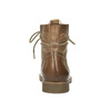 Leather insulated ankle boots bata, brown , 594-4610 - 17