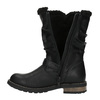 Girls' insulated high boots mini-b, black , 391-6653 - 19