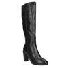 Ladies´ leather Cossacks on a heel bata, black , 694-6633 - 13