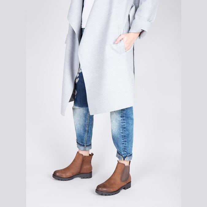 Ladies' ankle shoes bata, brown , 696-4606 - 18