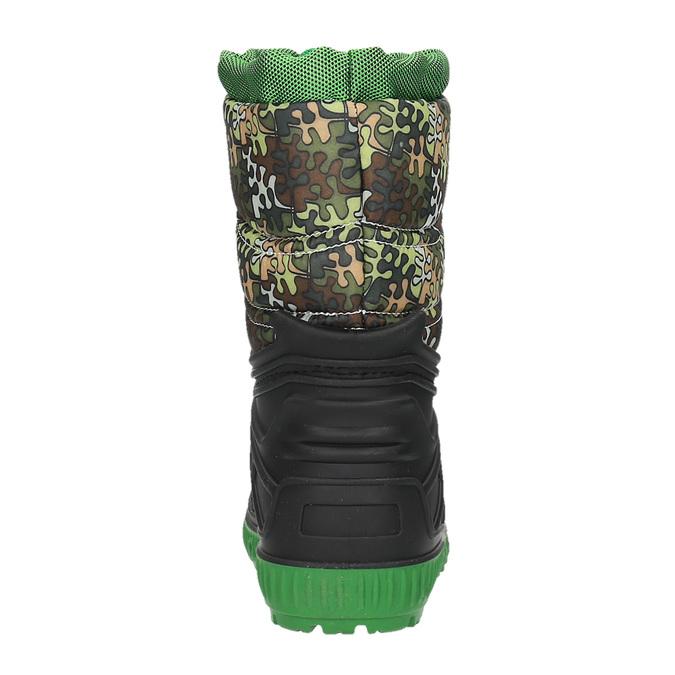 Children's insulated winter snow boots mini-b, green, 392-7200 - 17
