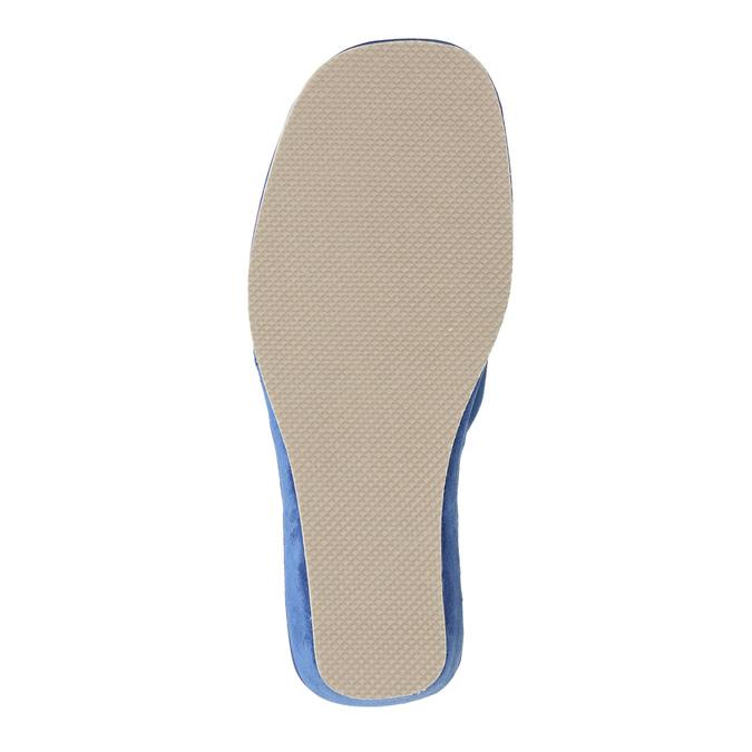 Ladies' slippers bata, blue , 679-9606 - 26