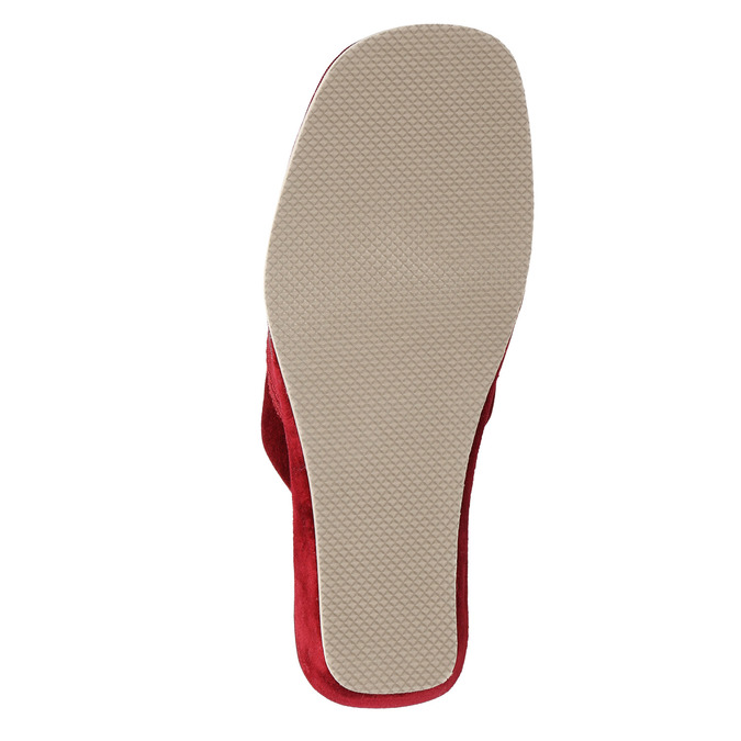 Ladies' wedge-heel slippers bata, red , 679-5607 - 26