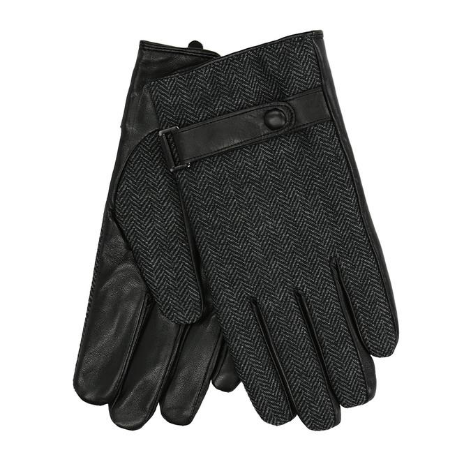Men´s gloves with a strip, black , 909-6297 - 13