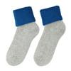 Ladies' thermal socks, blue , gray , 919-9381 - 26