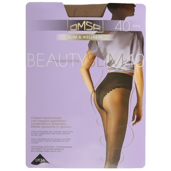Control tops tights omsa, brown , 919-3390 - 13