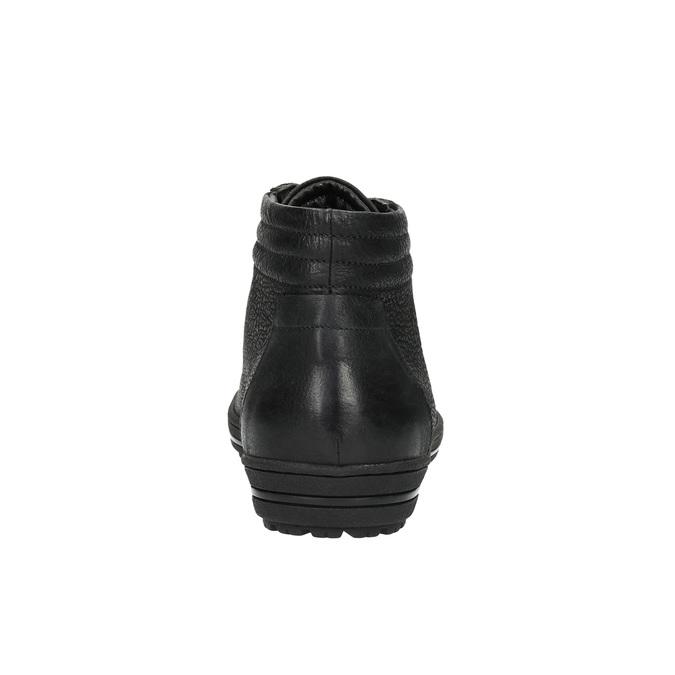 Ladies' ankle sneakers bata, black , 594-6659 - 17