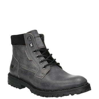 Leather ankle boots with a distinctive sole weinbrenner, gray , 896-2110 - 13