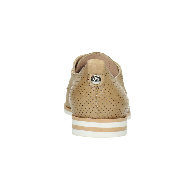 Ladies' casual leather shoes bata, beige , 526-3626 - 17