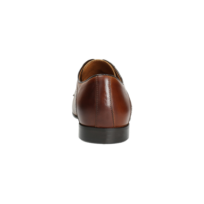 Brown leather shoes with embellishments conhpol, brown , 826-3837 - 17