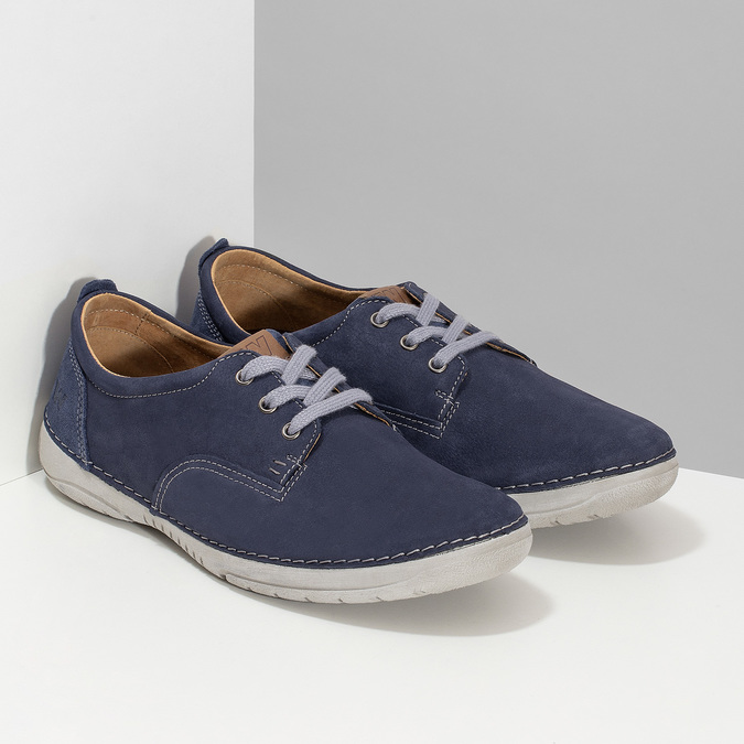 Casual leather shoes weinbrenner, blue , 846-9631 - 26
