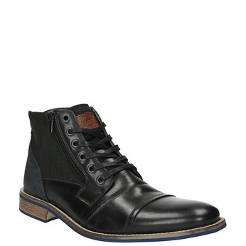 Leather ankle boots with a casual sole bata, black , 894-6684 - 13