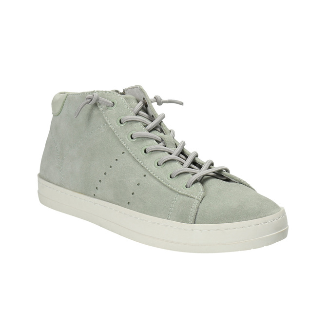 Ladies´ leather ankle-cut sneakers bata, green, 523-7602 - 13