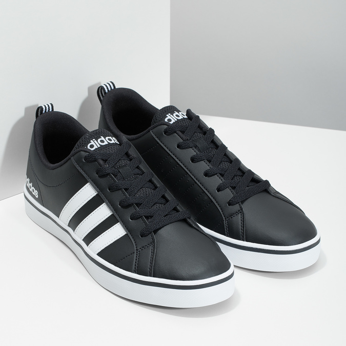 Men's casual sneakers adidas, black , 801-6136 - 26