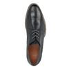 Men's black leather shoes bata, blue , 826-6793 - 19