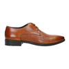 Brown leather Derby shoes bata, brown , 826-3804 - 15