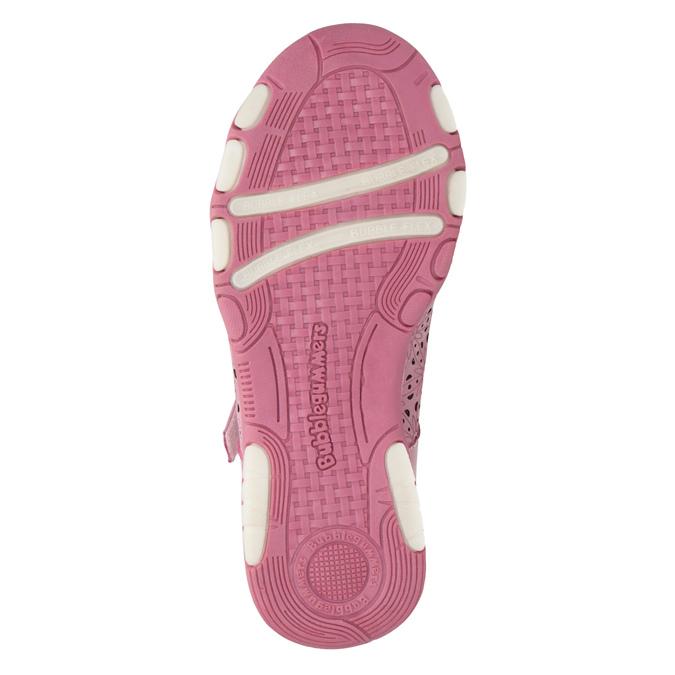 Girls' pink ballet pumps with strap across instep bubblegummer, pink , 321-5603 - 26