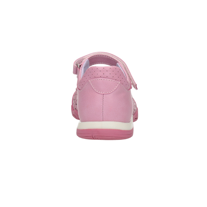 Girls' pink ballet pumps with strap across instep bubblegummer, pink , 321-5603 - 17