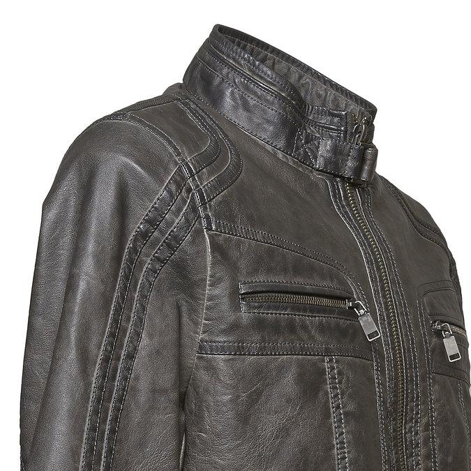 Men's quilted jacket bata, brown , 971-2194 - 16