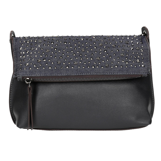 Ladies' crossbody handbag with stars bata, blue , 961-9302 - 19