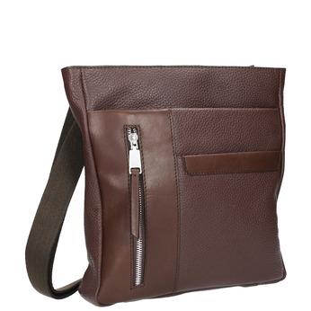 Men's leather crossbody bag bata, brown , 964-4230 - 13