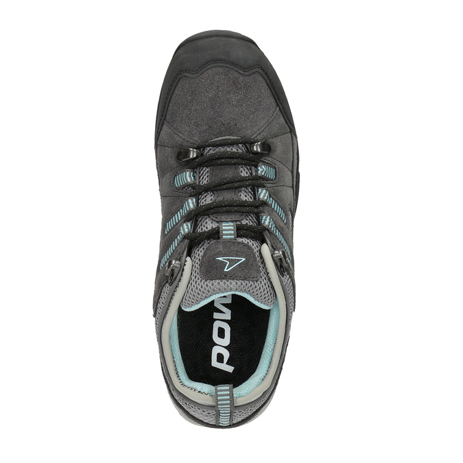 Ladies' leather outdoor shoes power, gray , 503-2118 - 19
