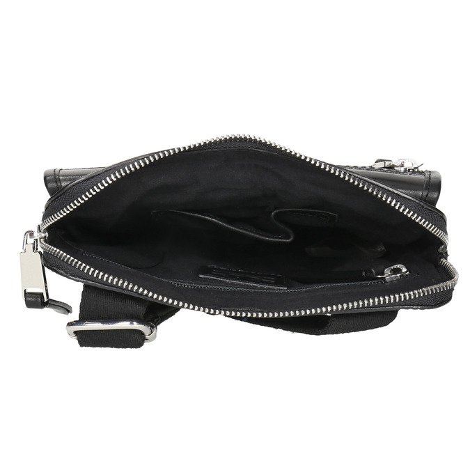 Men's leather crossbody bag bata, black , 964-6237 - 15