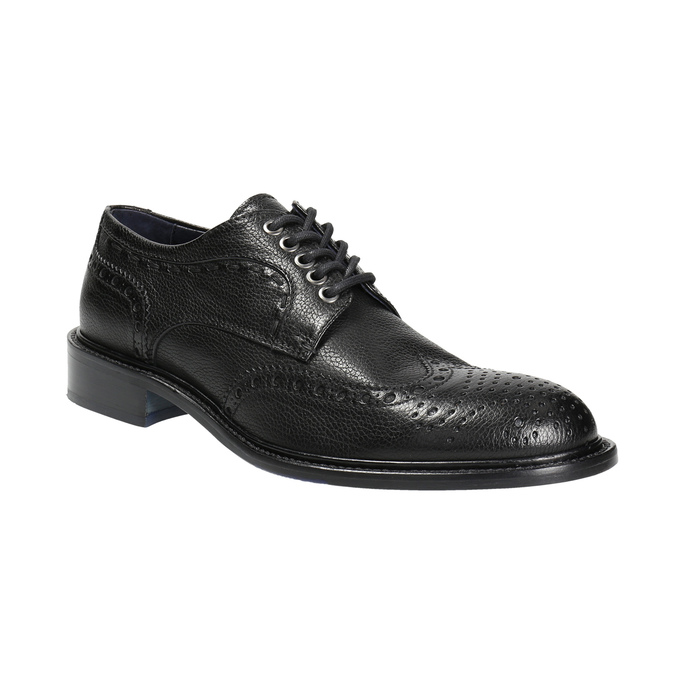 Men's leather shoes bata-the-shoemaker, black , 824-6292 - 13